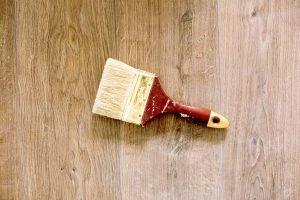 Paint Brush on Wooden floor
