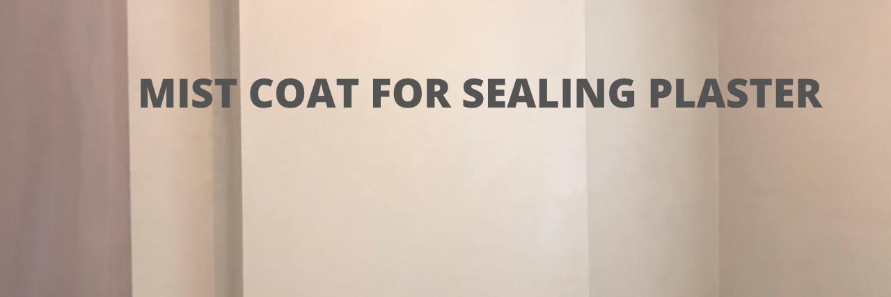 mist coat sealing plaster